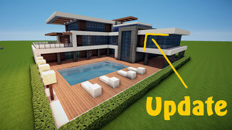 minecraft large modern house with pool download