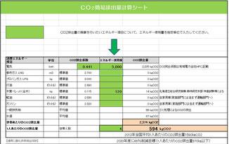 CO2排出計算シート