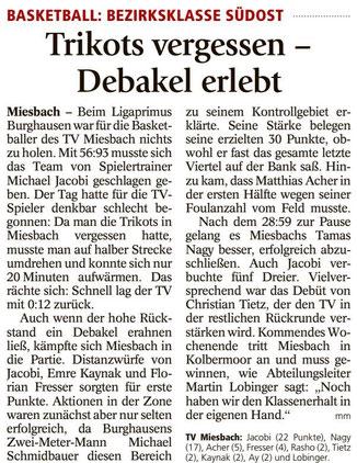 Bericht im Miesbacher Merkur am 6.3.2018 - Zum Vergrößern klicken