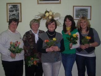 Petra Müller, Rosemarie Kiwitz, Kathrin Kiwitz, Katrin Perschke, Julia Wollny, Mandy Gilbrich- Preusche (abwesend)