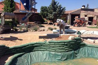 Gravas para depuración de piscina ecológica