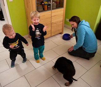 Dasha mit Ihrer neuen Familie