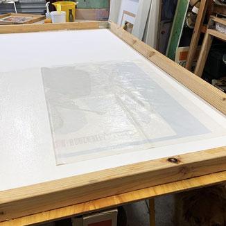 Linen backing - picture: Rodney Ashton