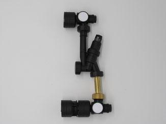 温水暖房用ヘッダー 差圧リリーフ弁付きバイパスセット
