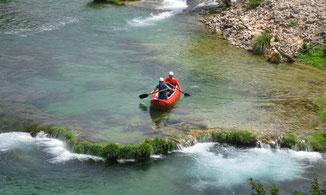 Schlauchkanadier im Wildwasser