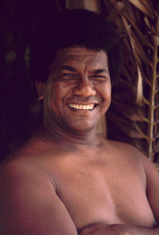 Scuba diving pioneer and underwater explorer Francis Toribiong, Ngeriungs Island, Kayangel Atoll, Palau.