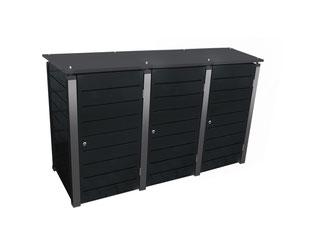 Das Mülltonnenhaus Modell Caldobox ist in verschiedenen Farben lieferbar.