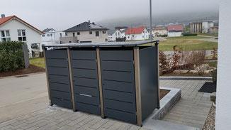Mülltonnenbox Pacco in Anthrazitgrau