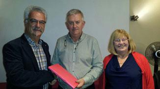 Manfred Schröder (FFSN), John Keane, Ellen Lynch (KCC)