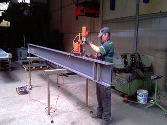 Verbereitung H-Träger für Stahlkonstruktionen