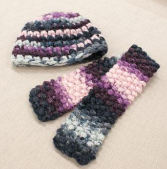 帽子&マフラー(毛糸:カントリー約2玉)