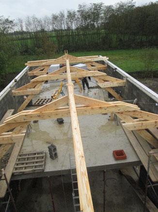charpente traditionnelle sur construction neuve