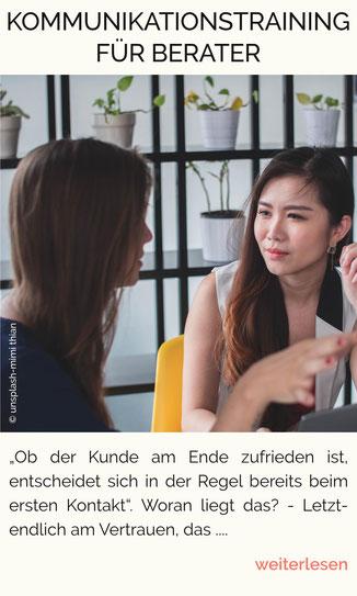 Kommunikationsregeln, Kommunikationstraining, Beratungstechniken, Gesprächsführung