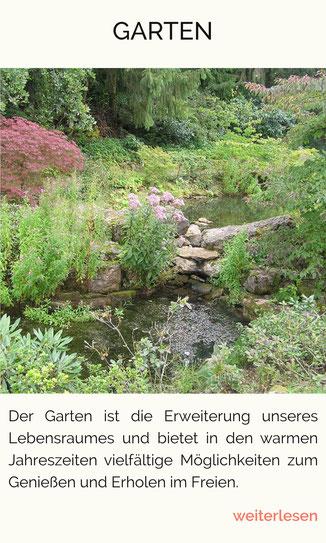 Garten, Oase, Gartengestaltung, Wasserlauf, Feng Shui im Garten