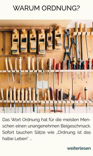 Ordnung in der Werkstatt, Aufräumen, Ordnung, Aufräum-Coach Nürnberg