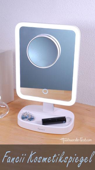Kosmetikspiegel LED Test: Fancii Kosmetikspiegel mit Vergrößerungsspiegel 15-fach