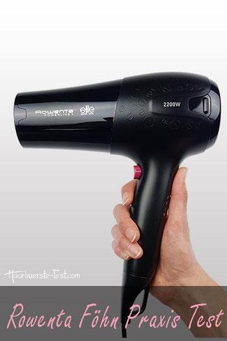 Rowenta Haartrockner Test, Rowenta CV5012 in der Hand