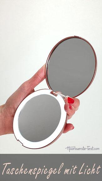 Taschenspiegel mit Licht im Praxis Test