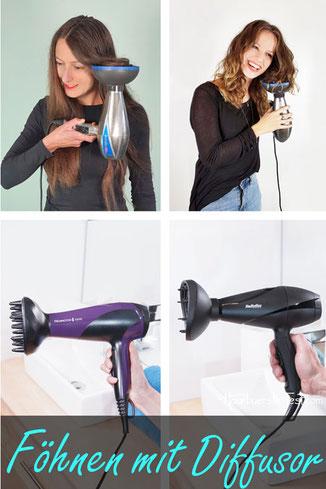 Föhnen mit Diffusor, haare mit diffusor föhnen, locken föhnen mit dem diffusor