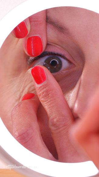 Vergrößerungsspiegel für Brillenträger, Spiegel für Kontaktlinsen