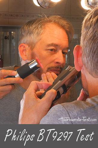 Philips BT9297/15 Test: Bartschneider mit Laser im Praxis Test