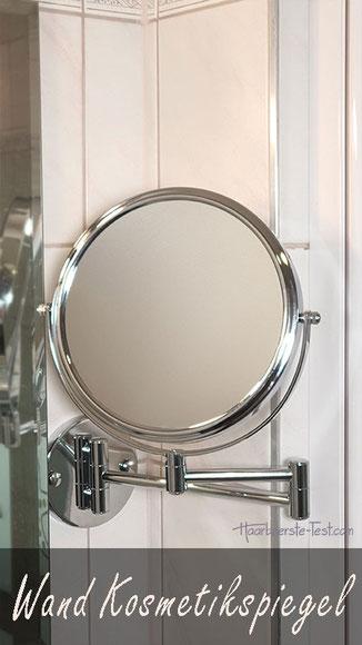 Casa Pura Kosmetikspiegel Wandmontage Test: wahlweise mit oder ohne Beleuchtung, mit 5-, 7- oder 10-fach Vergrößerung