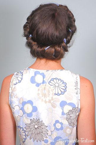 Locken mit Haarband: wunderschöne große Locken über Nacht
