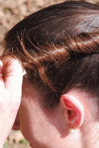 schnelle Frisur, einfache Frisur