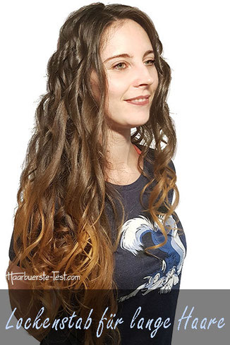 Lockenstab für lange Haare, lange Haare locken einfach gemacht