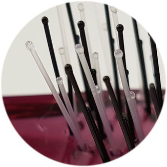 Kunststoffborsten mit kleinen Noppen Hercules Sägemann Scalp Brush Zauberbürste