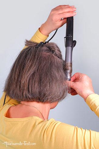 Lockenstab mit Klemme kurze Haare