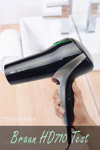Braun Satin Hair 7 Ionen Haartrockner Test,  Braun Satin Hair 7 Test, Braun Satin Hair 7 Haartrockner Test, Braun HD710 in der Hand