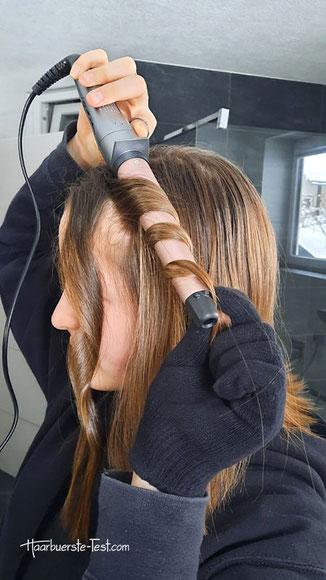 locken mit lockenstab kurze Haare