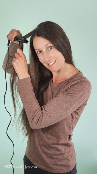 locken mit ghd glätteisen kurze haare