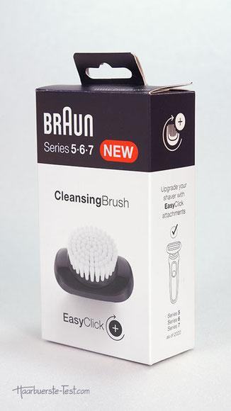braun cleansing brush, braun easy click, braun Gesichtsbürste