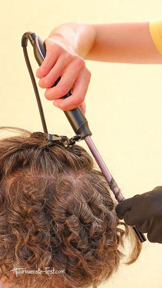 lockenstab ohne klemme kurze haare