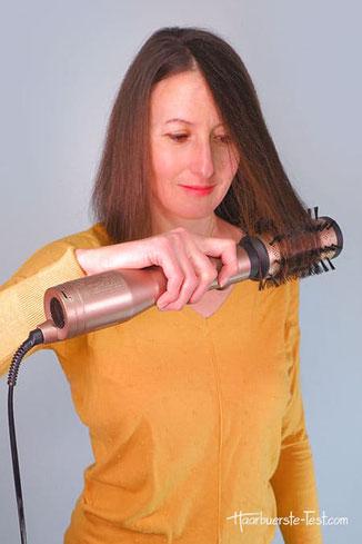 Warmluftbürste für lange haare