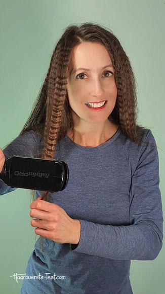 kreppeisen für lange haare, kreppeisen anwendung lange haare