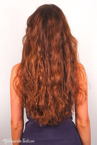 Beach Waves über Nacht lange Haare