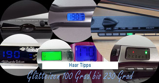 glätteisen 100 grad, glätteisen 120 grad, glätteisen 230 grad,  glätteisen 180 grad, glätteisen 220 grad