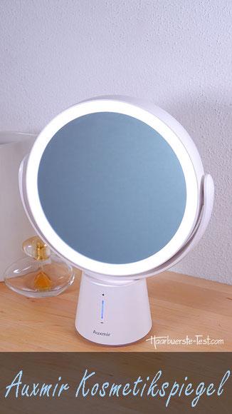 Kosmetikspiegel beleuchtet Test: Auxmir Kosmetikspiegel mit 10-fach Vergrößerung und Akku im Praxis Test, Kosmetikspiegel mit Beleuchtung Test, Kosmetikspiegel mit Beleuchtung, kosmetikspiegel mit beleuchtung testsieger