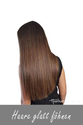 Haare glatt föhnen, lange haare glatt föhnen