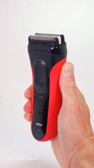 braun trockenrasierer, braun series 3 3050 red trockenrasierer mit reinigungsstation