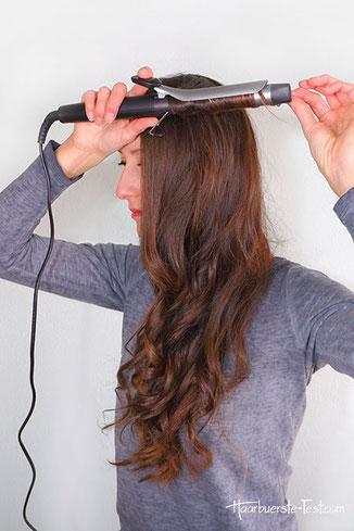 Lockenstab trockene haare, lockenstab trockene nasse haare