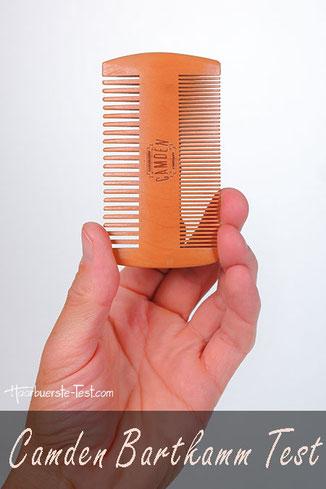 Bartkamm Holz Test: Wie gut ist der Camden Bartkamm aus Holz im Praxis Test?