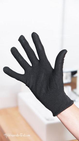 Lockenstab set mit handschuh