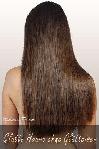 glatte Haare ohne Glätteisen
