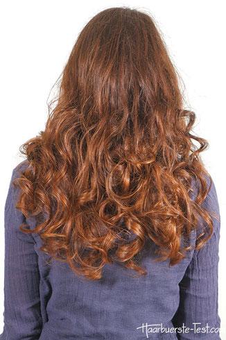 Korkenzieherlocken über Nacht, korkenzieherlocken mit Haarband