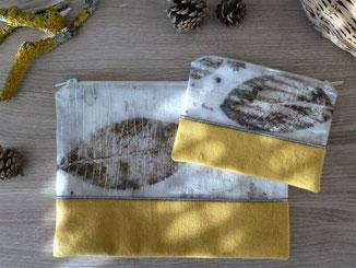 pochette et trousse en tissu