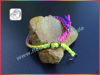 Rundgeflochtenes Halsband mit Zugstopp aus Parcord